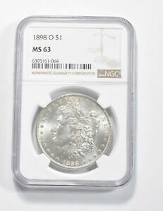 MS63 GRADED - 1898-O Morgan Silver Dollar- NGC *316