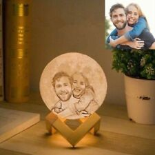 Personalized Moon Light Rechargeable USB LED Night Light Engraved Moon Lamp 10cm