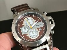 NEW OLD STOCK FOSSIL JR1157 CHRONOGRAPH 24 HOURS DUAL TIME DATE QUARTZ MEN WATCH