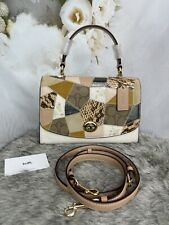 Coach Tilly Top Handle Satchel Crossbody Chalk Leather/patchwork 91089