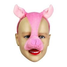 Noisy Pig Mask With Sound FX Animal Fancy Dress Costume Accessory P1304