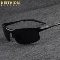 New Aluminium HD Polarized Sunglasses Men Driving Fishing Mirrored Eyewear