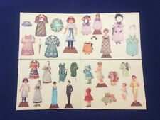 Lot Of 4 New Paper Doll Postcards