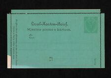 (YYAI 287) Austria Bosnia Herzegovina 1879 postal stationery card