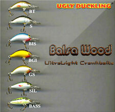 Ugly Duckling ultra light fishing lures, balsa wood, high quality, NEW in BOX