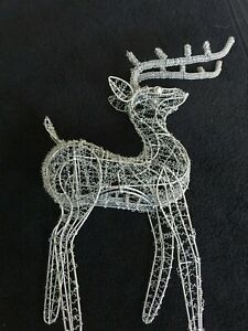 Large Wire Reindeer Christmas Standing Decoration. #BR9