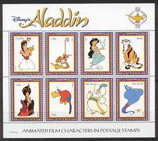 Guyana 1993 Disney/Aladdin/Tiger/Loro/Mono Sht s355