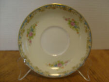 Rose China, Occupied Japan Noritake Saucer Floral Bouquet beige/blue 5 5/8""
