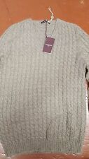 NWT $650 BALLANTYNE OF SCOTLAND SUPER SOFT CASHMERE BRAIDED MADE IN ITALY M