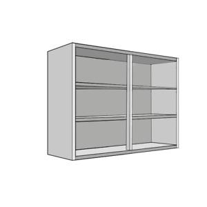 Premium White Flat Pack Kitchen Wall Units, Cabinets, Carcass 300-1000mm   18mm