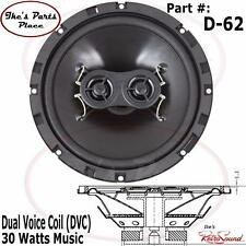 "RetroSound D-62 DVC 6.5"" Universal Single Replacement Speaker-Dash 30W-Stereo"