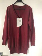 John Lewis Ladies Long Red Cardigan 85% Silk15% Angora £89