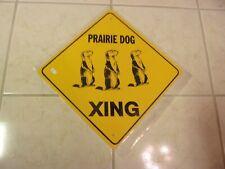 "Prairie Dog Xing Aluminum Novelty Amber Sign 17"" X 17"" Diagonal Sign (Crossing"
