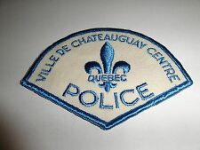 LAW ENFORCEMENT PATCH POLICE QUEBEC VILLE DE CHATEAUGUAY CENTRE POLICE