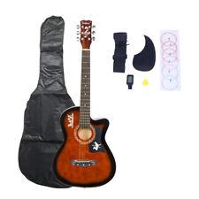 Dk-38C Basswood Guitar+Bag+Straps+Picks Lcd Tuner+Pickguard+String Set Coffee
