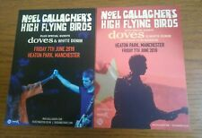 Noel Gallagher Oasis x2 Rare 21×15cm Large Alternate Flyers Manchester 2019 Gig,