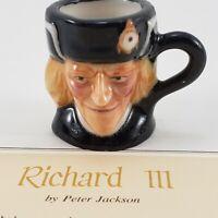 Franklin Mint Vintage Richard III Miniature Figure 1983 Toby Mug Jug Certificate
