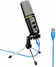 Aokeo Desktop USB Condenser Microphone With Tripod Stand Audio Recording Gaming
