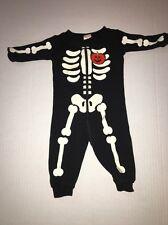 Gymboree Skeleton Onesie Bodysuit Size 3 - 6 Months Halloween Costume