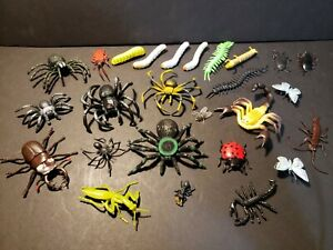 Toy Bugs Huge Lot Of Rubber Insects