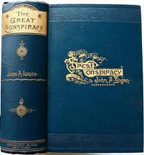 1886 1stED THE GREAT CONSPIRACY ITS ORIGIN AND HISTORY CIVIL WAR ILLUSTRATED VG+