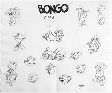 Bongo Fun and Fancy Free Walt Disney Production Animation Model Sheet 1947 1