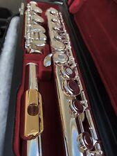 NEW Gemeinhardt 3OB Silver plate Flute, GOLD LIP, Open-Hole B-foot, offset G 30B
