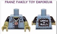 New LEGO Minifig Blue TORSO Jean Vest FRANKENSTEIN Monster Rocker Series 14