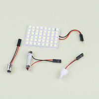 Car interior white 48 SMD 5050 LED light lamp panel T10 festoon Dome BA9S 12V BB