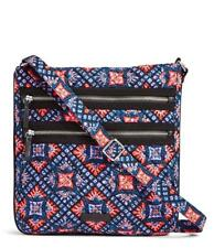 VERA BRADLEY~Iconic Triple Zip Hipster /Crossbody Bag~Mosaic~NWT/Retired