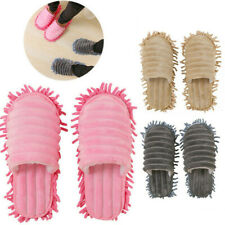 A Pair Mop Slippers Lazy Floor Foot Socks Shoes Quick Cleaning Dust Men Women