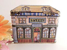 Metal Box Covered Tin Box Old Fashioned Candy Shop Storage Container Gift Box