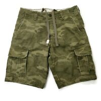 "Abercrombie Fitch Men's Cargo 10"" Shorts 30 Actual 31 Fatigue Camo Army Green"
