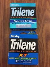 Lot 2 Berkley Trilene XT 10 Lb 330yd Low-Vis Green & SensiThin 8 Lb 330yd Clear