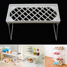 Foldable Stacking Storage Shelf Rack Organizer Holder Kitchen Bathroom Desk XC