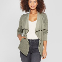 Women's Long Sleeve Open-Front Moto Jacket - Knox Rose- Green- Varies Sizes- NWT