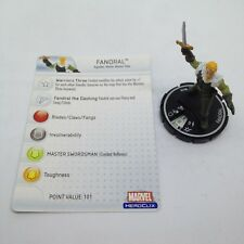 Heroclix Hammer of Thor set Fandral #018 Uncommon figure w/card!