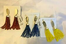 NWT Kendra Scott Marin Statement Tassel Earring Blue Brown Yellow MSRP $125
