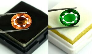Sapphire & Emerald Jewelry Making Gemstone Pair Natural Oval 18-20 Ct Certified