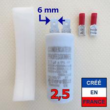 Condensateur de 2,5 µF uF spécial pour moteur de store ou volet