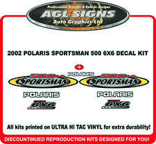 2002 POLARIS SPORTSMAN 500 H.O. 6x6  DECAL SET ATV  sticker, reproduction