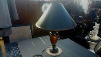 Ceramic Vase Double Handle Table Lamp By Four D Concepts Antique Satin Brocade