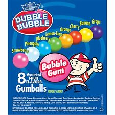 Dubble Bubble Fruit Gumballs / Gumballs Vending Size (,25 Cents Each) 1200 ct
