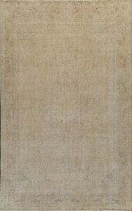 Vintage Distressed Ardakan Muted Hand-knotted Area Rug Evenly Low Pile 10'x13'