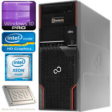 Fujitsu celsius w510 workstation PC Xeon e3-1225 16gb RAM 120gb SSD win10 B-Ware