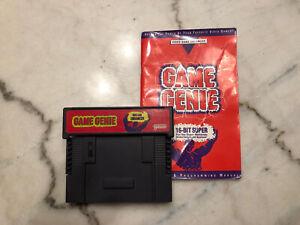 Game Genie Video Game Enhancer By Galoob Super Nintendo SNES Model 7353 Untested