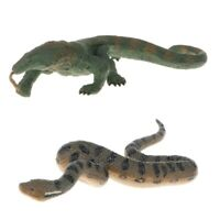 Realistic Lizard Green Anaconda Wildlife Animal Action Figure Kids Toy Gift