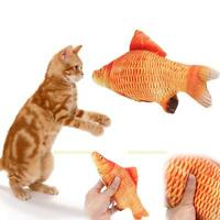 Pet Cat Kitten Fish Shape Interactive Cats Chewing Catch RattleToys Play Fun Toy