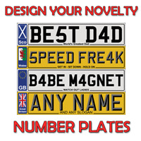 PERSONALISED NUMBER PLATE FOR DOORS ,WALL,WINDOWS DOORS SHOW PLATE FRONT OR REAR