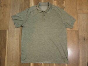 Lululemon Men's Green Space Dye Short Sleeve Metal Vent Tech Polo Shirt Sz XXL